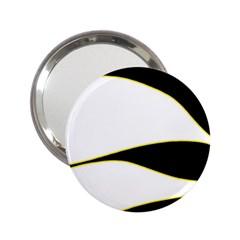 Yellow, black and white 2.25  Handbag Mirrors