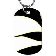 Yellow, black and white Dog Tag (Two Sides)
