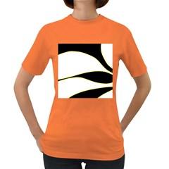 Yellow, black and white Women s Dark T-Shirt