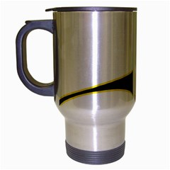 Yellow, black and white Travel Mug (Silver Gray)