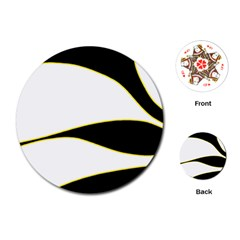 Yellow, black and white Playing Cards (Round)