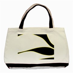Yellow, black and white Basic Tote Bag