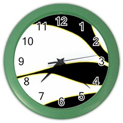 Yellow, black and white Color Wall Clocks