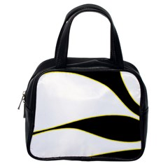 Yellow, black and white Classic Handbags (One Side)