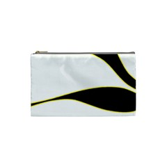 Yellow, black and white Cosmetic Bag (Small)