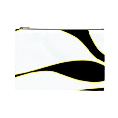 Yellow, black and white Cosmetic Bag (Large)