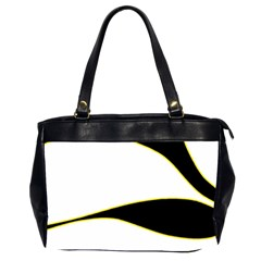 Yellow, black and white Office Handbags (2 Sides)