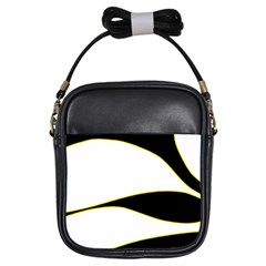 Yellow, black and white Girls Sling Bags