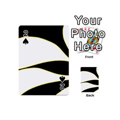 Yellow, black and white Playing Cards 54 (Mini)