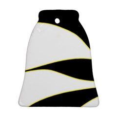 Yellow, black and white Bell Ornament (2 Sides)