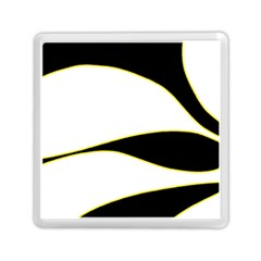 Yellow, black and white Memory Card Reader (Square)