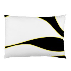 Yellow, black and white Pillow Case (Two Sides)
