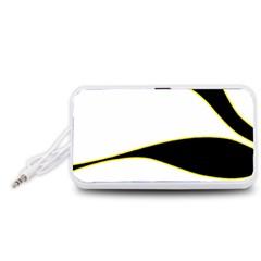 Yellow, black and white Portable Speaker (White)
