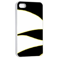 Yellow, black and white Apple iPhone 4/4s Seamless Case (White)