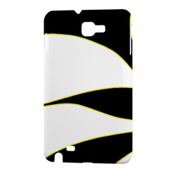 Yellow, black and white Samsung Galaxy Note 1 Hardshell Case