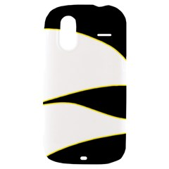 Yellow, black and white HTC Amaze 4G Hardshell Case