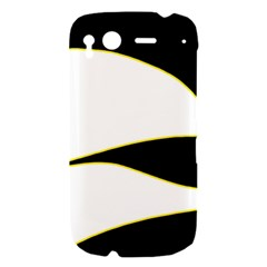 Yellow, black and white HTC Desire S Hardshell Case