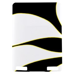Yellow, black and white Kindle Touch 3G