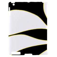 Yellow, black and white Apple iPad 2 Hardshell Case (Compatible with Smart Cover)