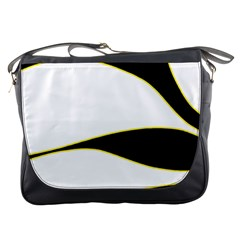 Yellow, black and white Messenger Bags