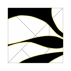 Yellow, black and white Acrylic Tangram Puzzle (6  x 6 )