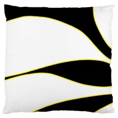 Yellow, black and white Large Cushion Case (Two Sides)