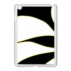 Yellow, black and white Apple iPad Mini Case (White)