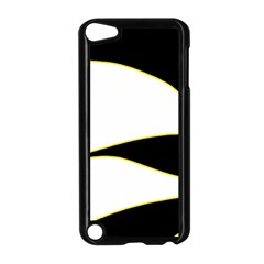 Yellow, black and white Apple iPod Touch 5 Case (Black)