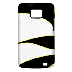 Yellow, black and white Samsung Galaxy S II i9100 Hardshell Case (PC+Silicone)