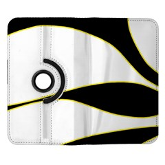 Yellow, black and white Samsung Galaxy Note II Flip 360 Case