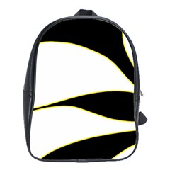 Yellow, black and white School Bags (XL)