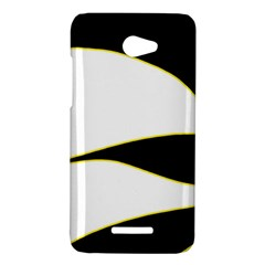 Yellow, black and white HTC Butterfly X920E Hardshell Case