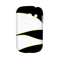 Yellow, black and white Samsung Galaxy S6810 Hardshell Case