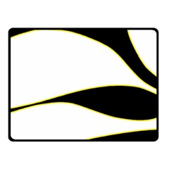 Yellow, black and white Double Sided Fleece Blanket (Small)