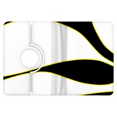 Yellow, black and white Kindle Fire HDX Flip 360 Case