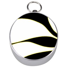 Yellow, black and white Silver Compasses