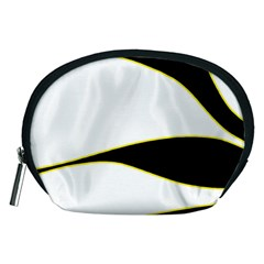 Yellow, black and white Accessory Pouches (Medium)