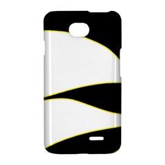Yellow, black and white LG Optimus L70