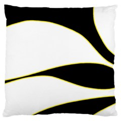 Yellow, black and white Standard Flano Cushion Case (One Side)