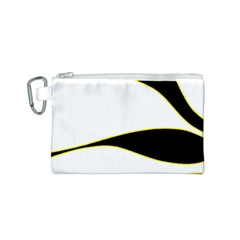 Yellow, black and white Canvas Cosmetic Bag (S)