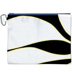 Yellow, black and white Canvas Cosmetic Bag (XXXL)
