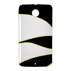 Yellow, black and white Nexus 6 Case (White)