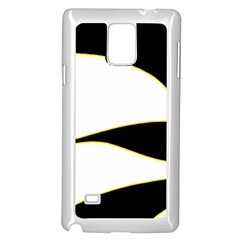 Yellow, black and white Samsung Galaxy Note 4 Case (White)