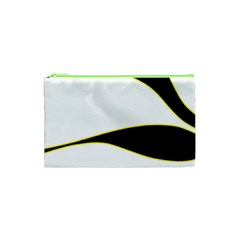 Yellow, black and white Cosmetic Bag (XS)