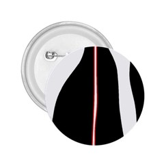 White, red and black 2.25  Buttons