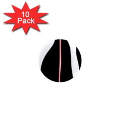 White, red and black 1  Mini Magnet (10 pack)