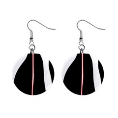 White, red and black Mini Button Earrings