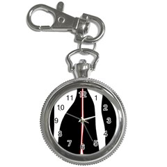 White, red and black Key Chain Watches