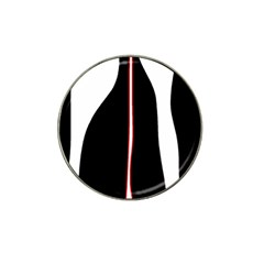 White, red and black Hat Clip Ball Marker (4 pack)