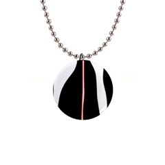 White, red and black Button Necklaces